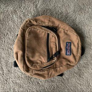 Jansport Corduroy Brown Mini Backpack